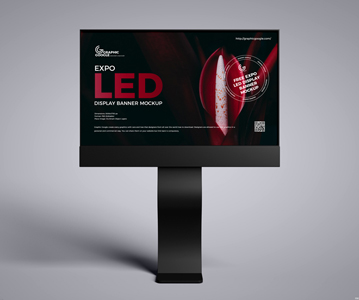 Free Awesome LED Advertising Display Banner PSD Mockup (2021)
