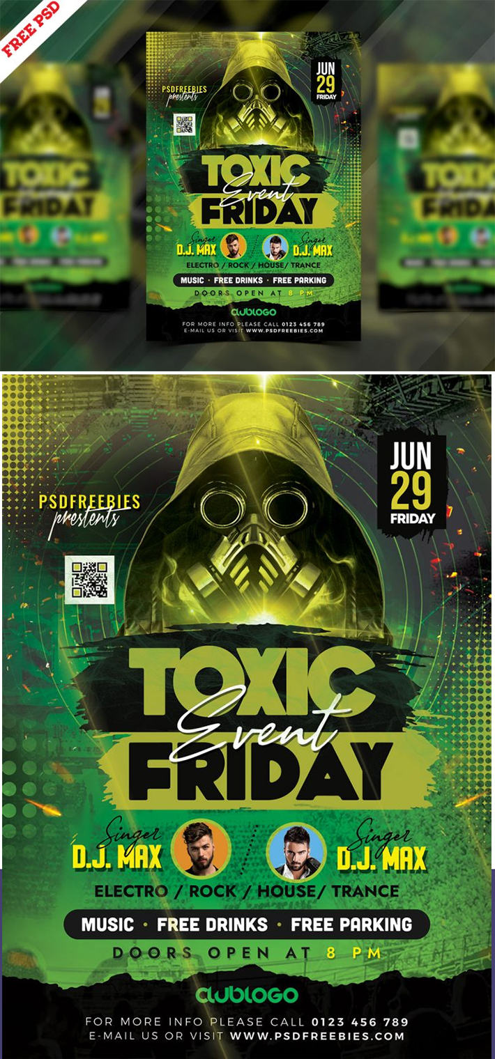Awesome Perfect Music Festival Flyer Template