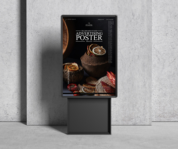 Free Attractive Outside Advertising Poster PSD Mockup
