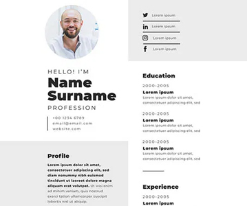 Freebie ;  Elegant Perfect Resume / CV Template