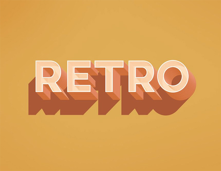 Free Download Creative Retro Text Effect With Shadow For Designers