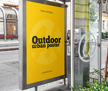 Simple Attractive Outdoor Poster PSD Mockup Free Download