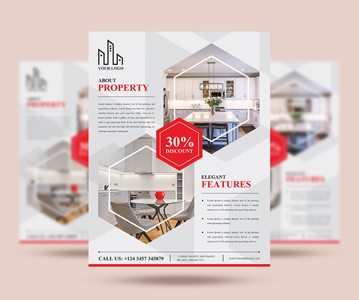 Free Download Simple Creative Real Estate Flyer PSD Template (2020)