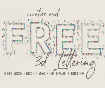 Free Download Awesome Beautiful Pins Lettering For Graphic Designers