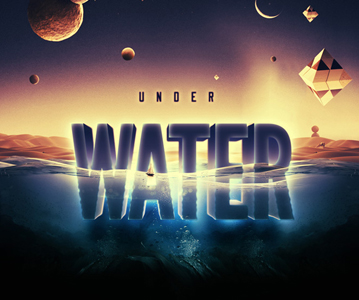 Free Download Awesome Water Text Effect For Designers