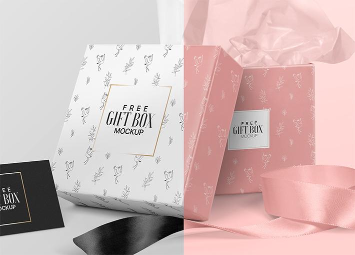 Elegant Gift Box Mockup