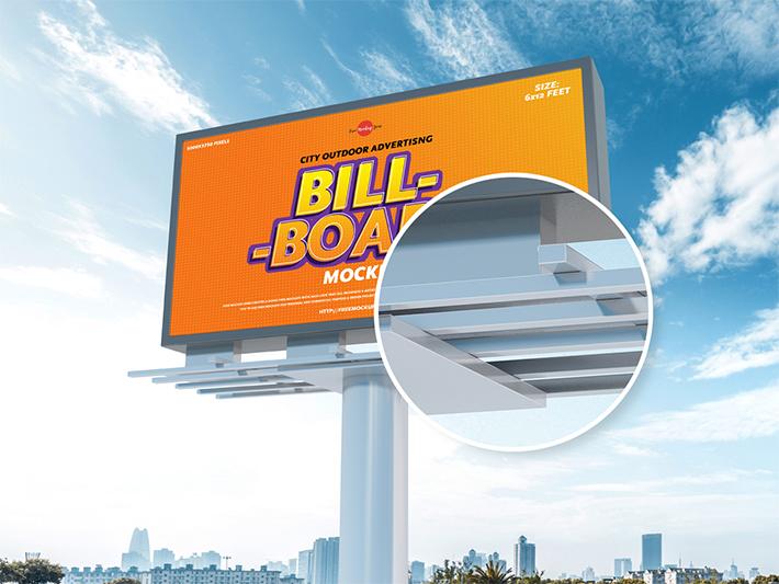 Advertising Billboard PSD Mockup