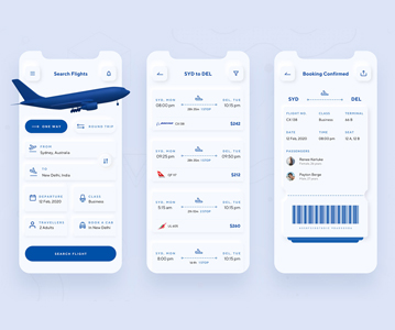 Free Booking App Design (UI/UX)