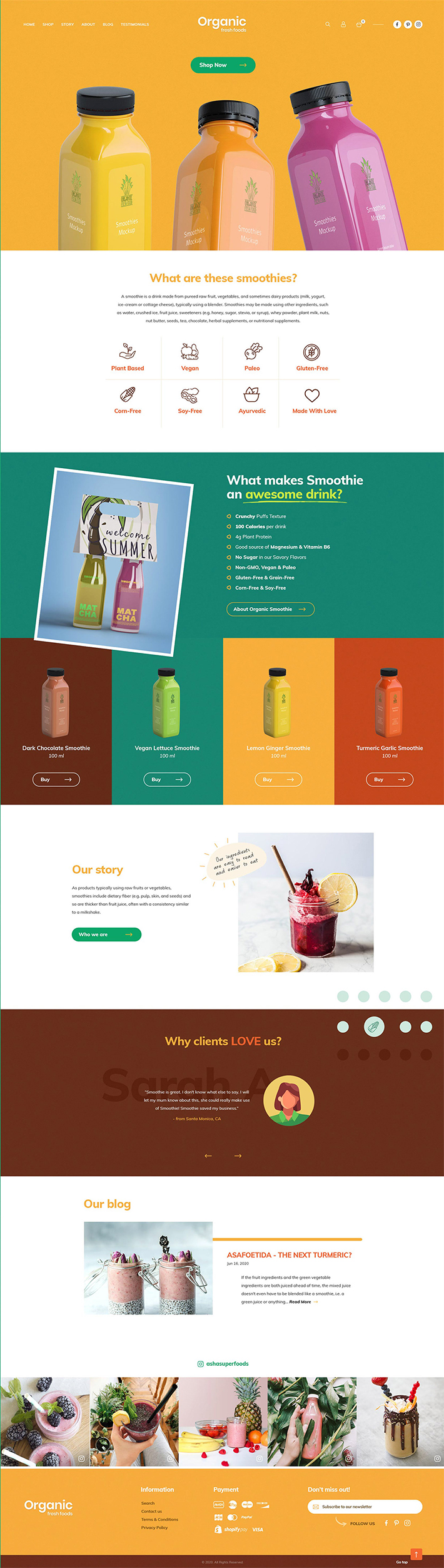 Elegant Fresh Food Web Template