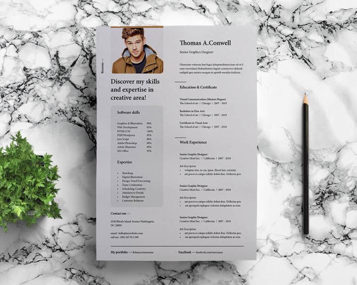 Modern Print Ready Resume