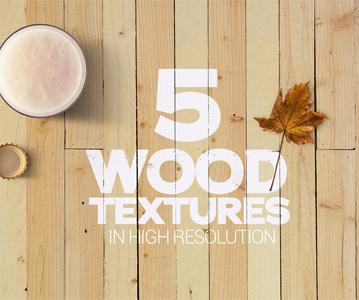 Free 5 Stunning Wood Textures Mockup