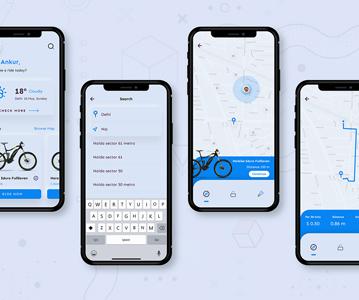 Free bike Rent App Design (UI Design)