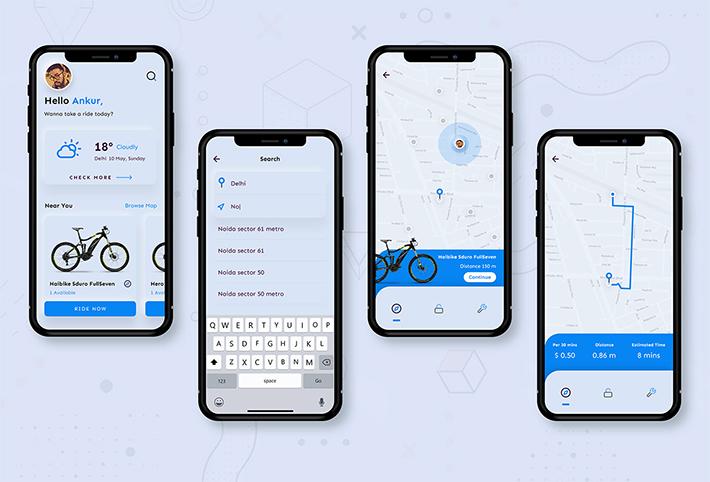 bike Rent App Design