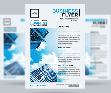 Free Perfect Business Flyer PSD Template