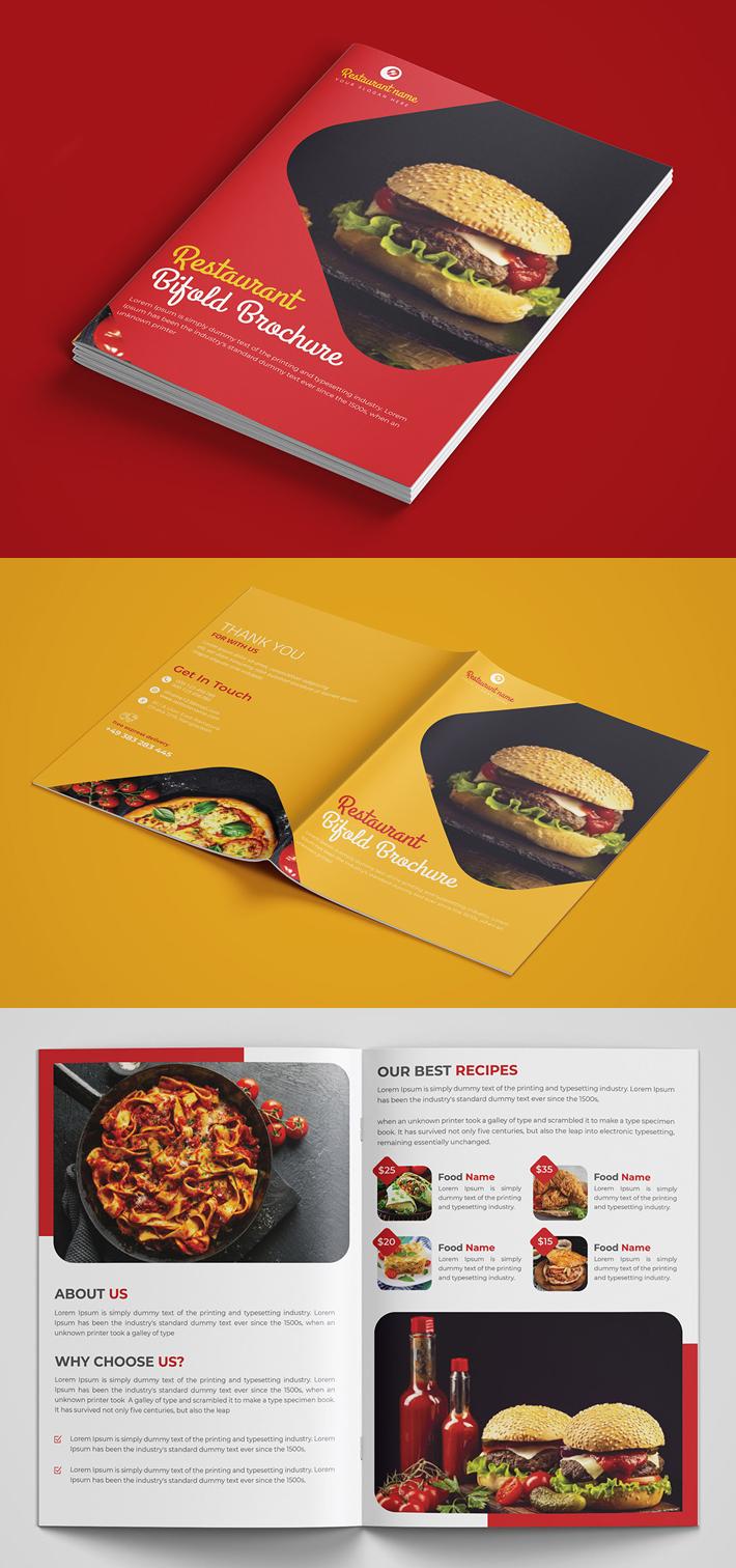 Bifold Brochure PSD Template