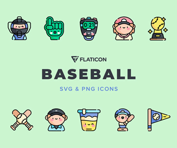 Free 50 Awesome Baseball Icons (3 Different Version)
