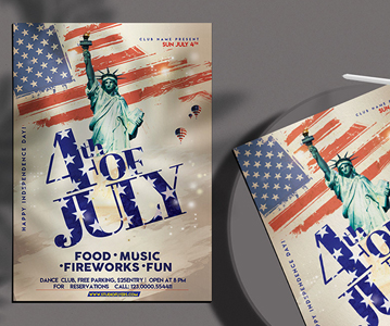 Free Independence Day Party Flyer Template (PSD)