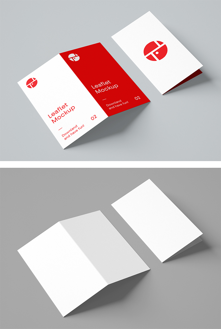 Simple Creative Bi-Fold Brochure Mockup