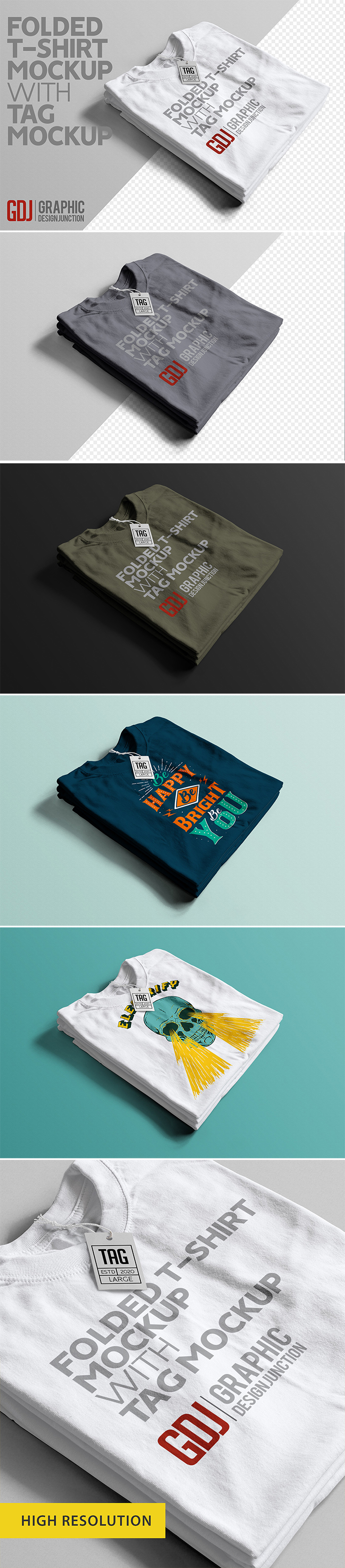 Awesome T-Shirt With Tag Mockup