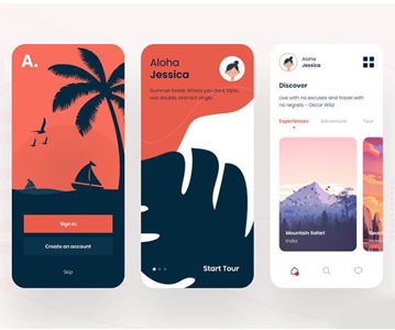Free Minimal Travel App Design (UI Kit)
