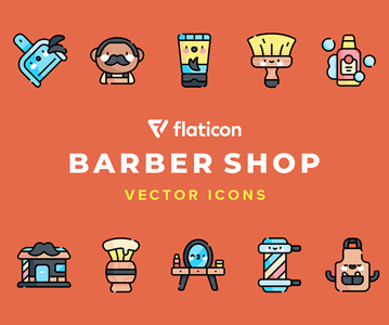 Free 50 Barber Shop Icon Set (Vector Icons)
