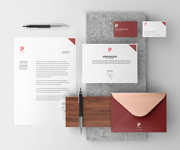 Professional Branding Stationery Mockup Free Download