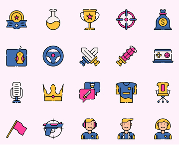 Free Creative E sport Vector icon Set