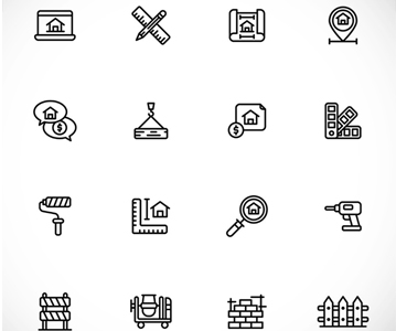 Free Awesome Architecture Line Icons (2020)