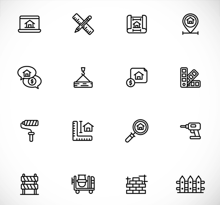 Awesome Architecture Line Icons