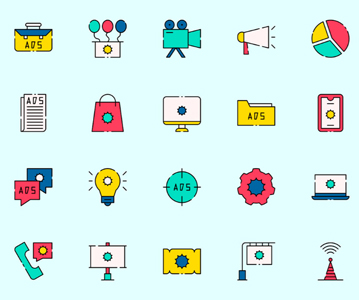 Free Stylish Advertising Vector Icons (2020)