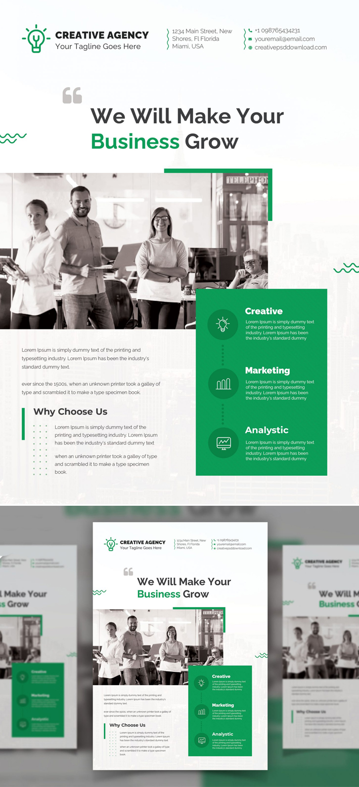 Perfect Business Flyer PSD Template