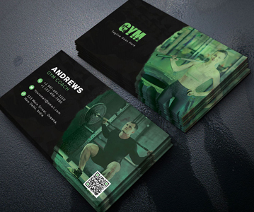 Free Fitness Club Business Card PSD Template