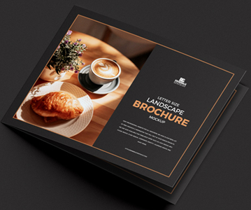 Freebie : Awesome Landscape Brochure PSD Mockup