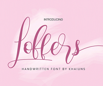 Beautiful Loffers Script Font For Designers