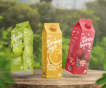 Attractive Juice Packaging PSD Mockup Free Download