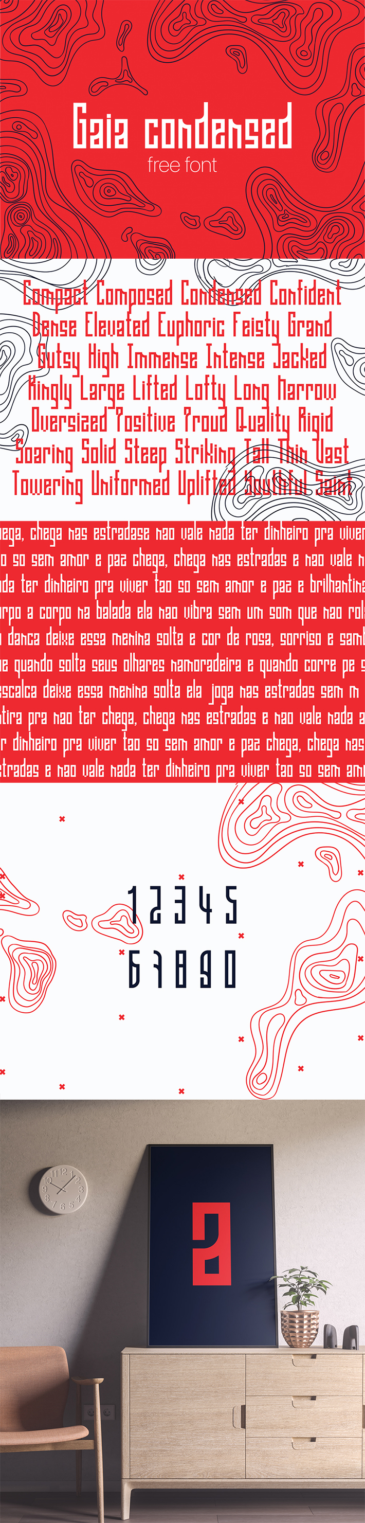 Awesome Gaia Condensed Display Font