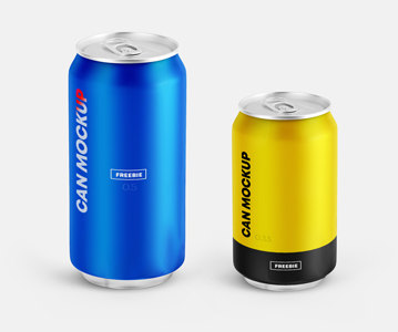 Awesome Can PSD Mockups Free Download
