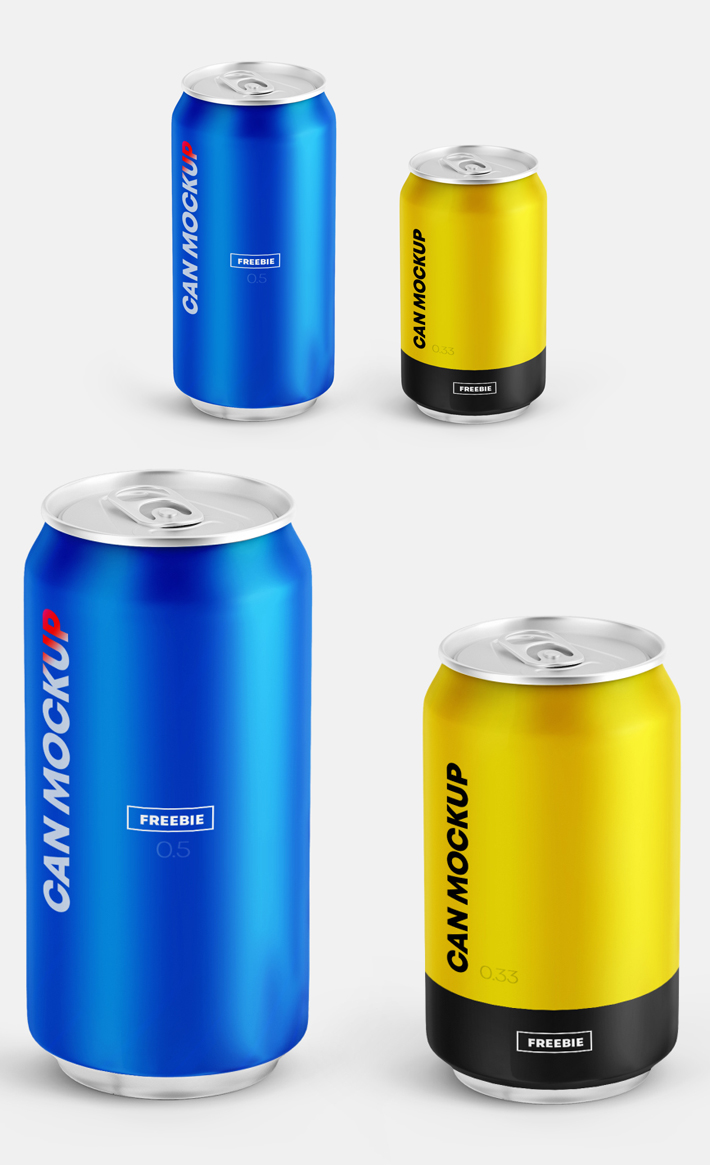 Awesome Can PSD Mockups