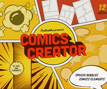 Free Comic Book Element Designs For Designers