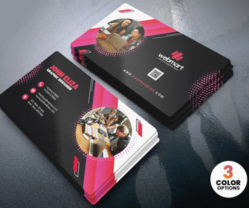 Free Corporate Company Business Card Template Design (3 Color Options)