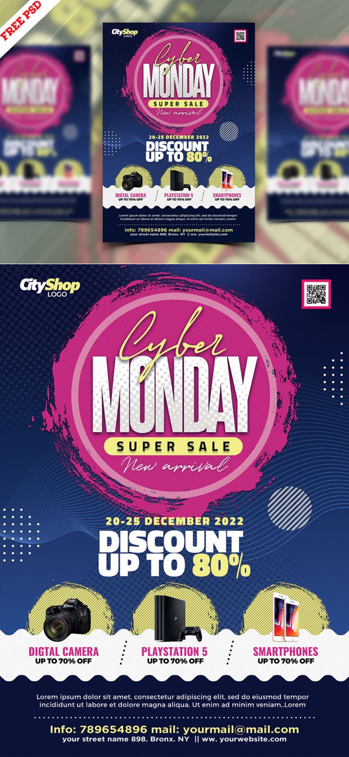 Supper Monday Sale Flyer Template