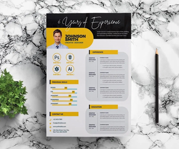 Professional Creative Resume / CV Template (PSD)