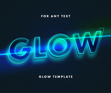 Free Awesome Glowing Text Effect For Designers