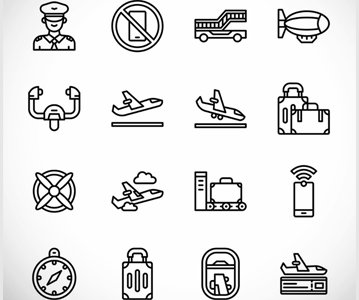 Free Creative Aviation Line Icons For Designers