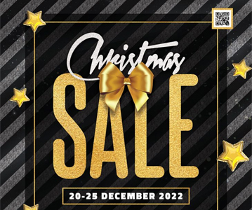 Elegant Christmas Sale Flyer PSD Template