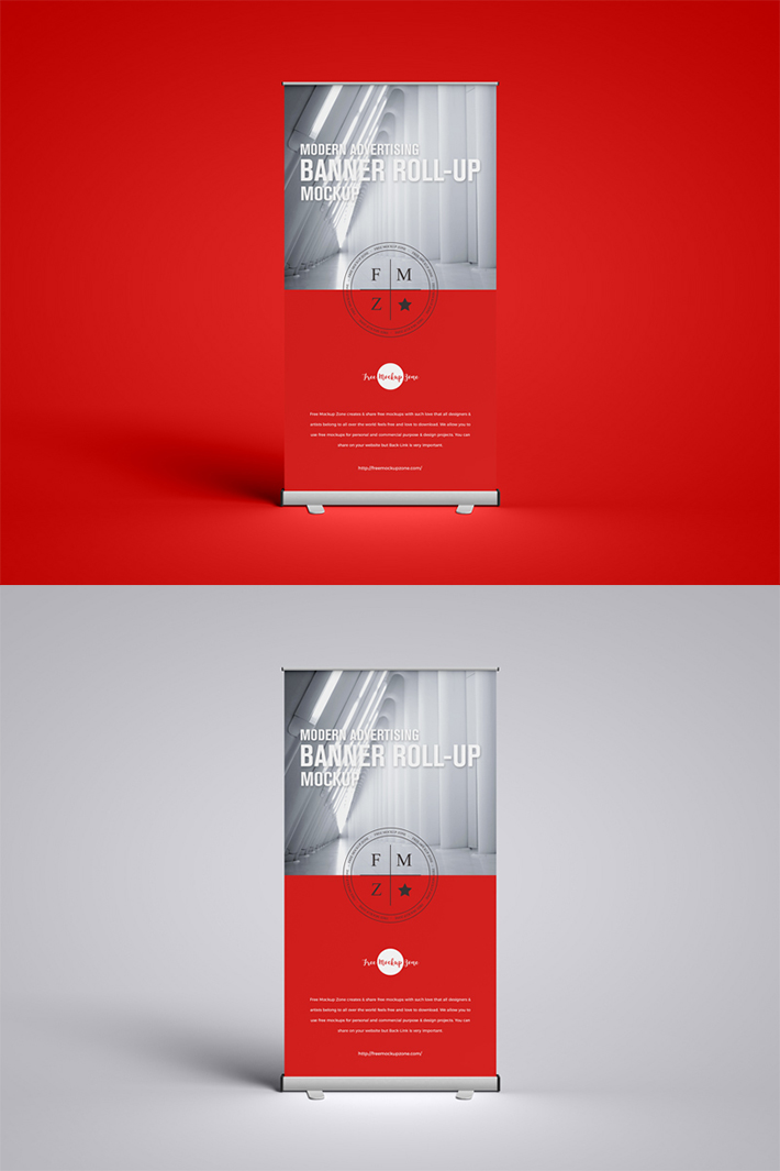 Attractive Advertising Roll-up PSD Mockup