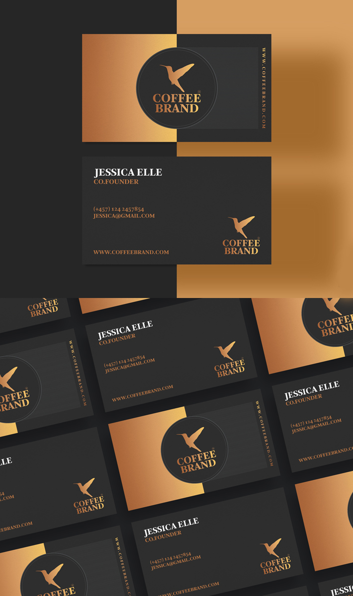 Awesome Business Card Template For Coffee Shop