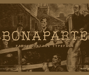 Free Attractive Fancy Vintage Bonaparte Font