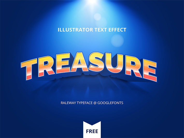 Awesome Illustrator Text Effect
