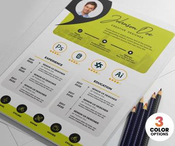 Free New Creative Resume / CV Template PSD